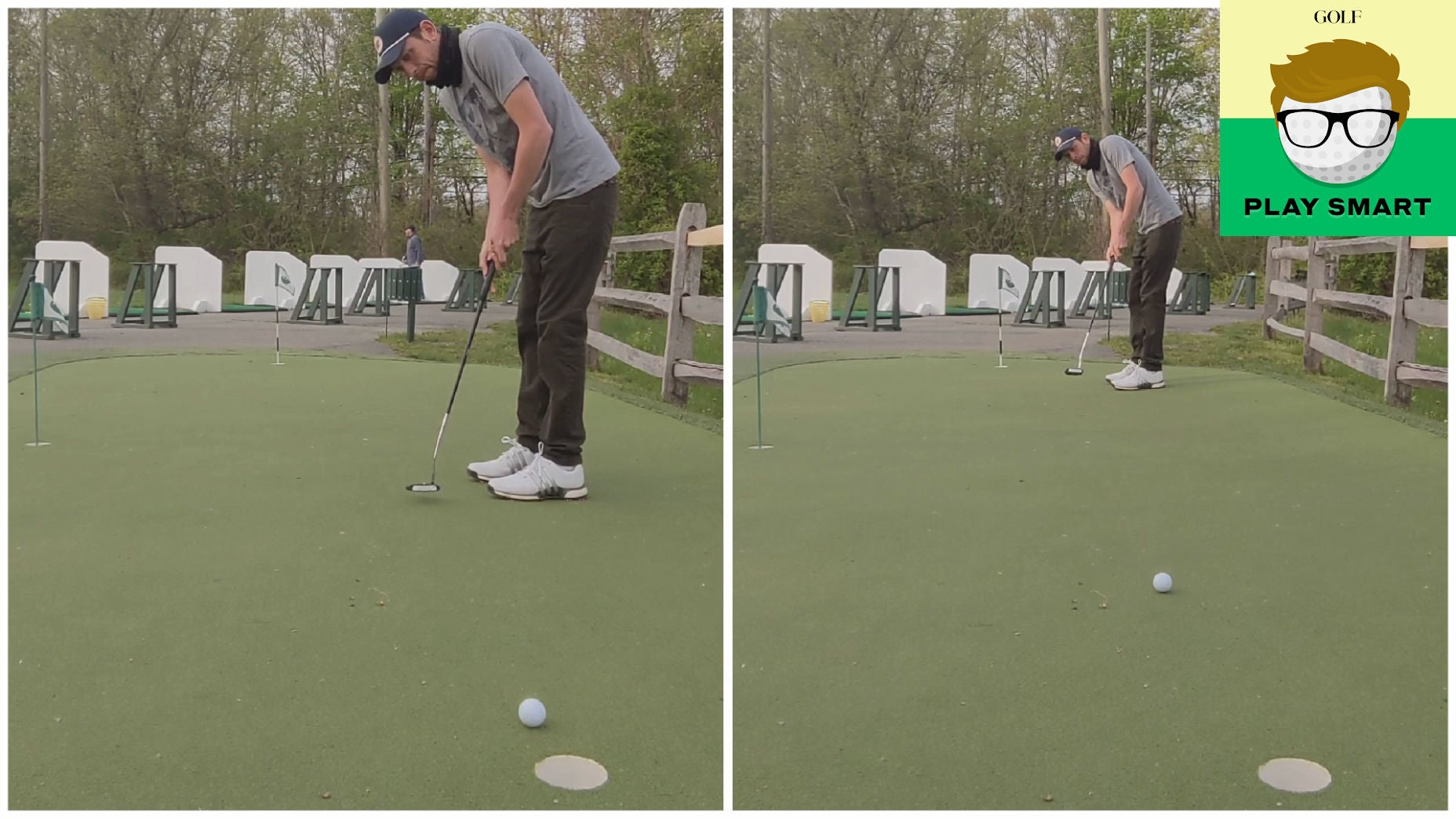 Heads-up putting drill