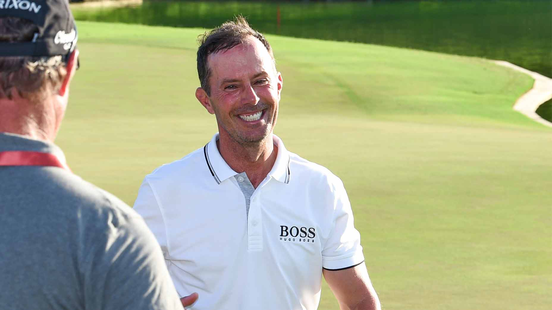 Mike Weir celebrates his win