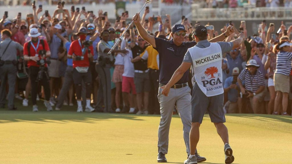 phil mickelson with his brother