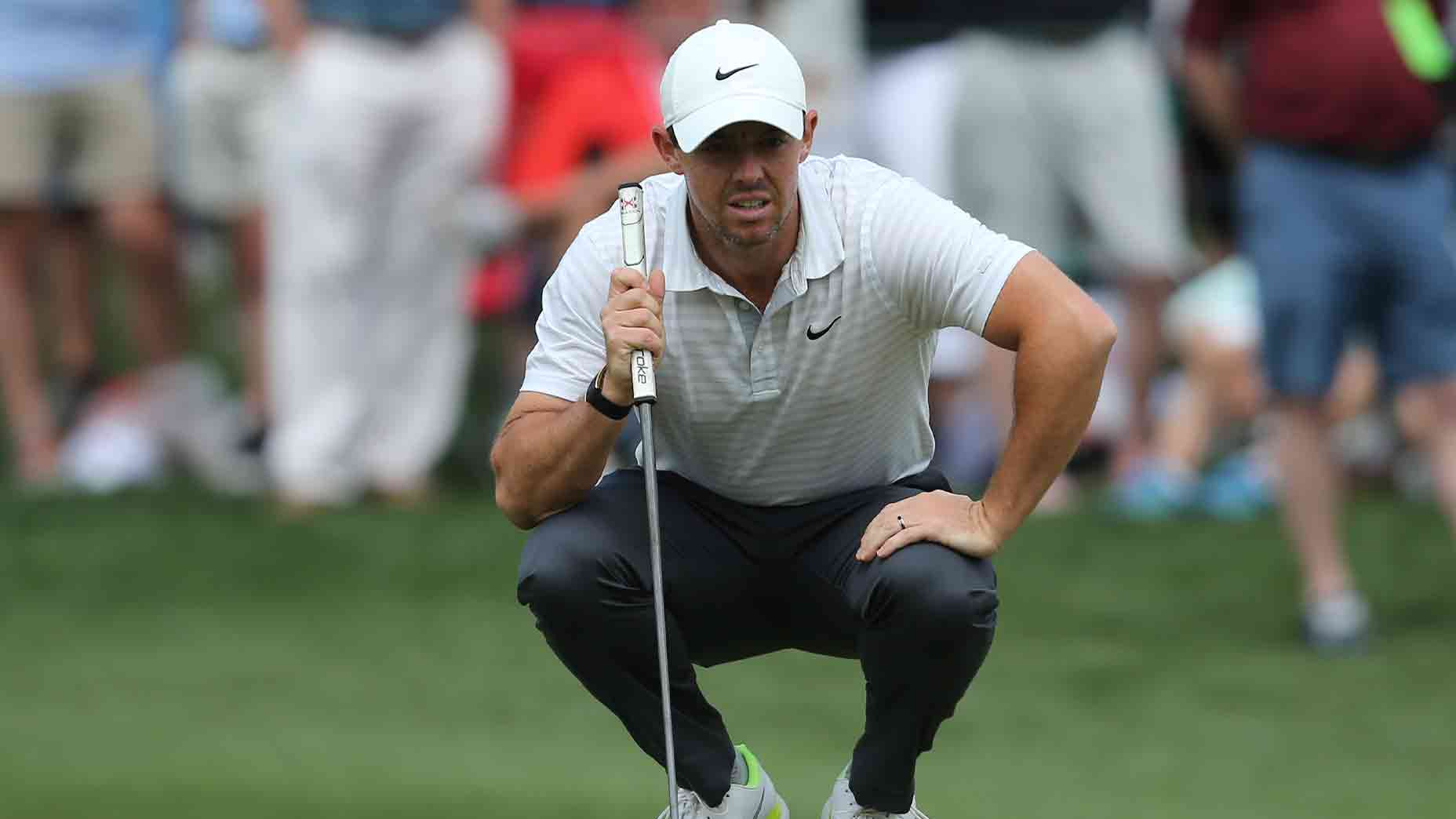 rory mcilroy holds putter wells fargo