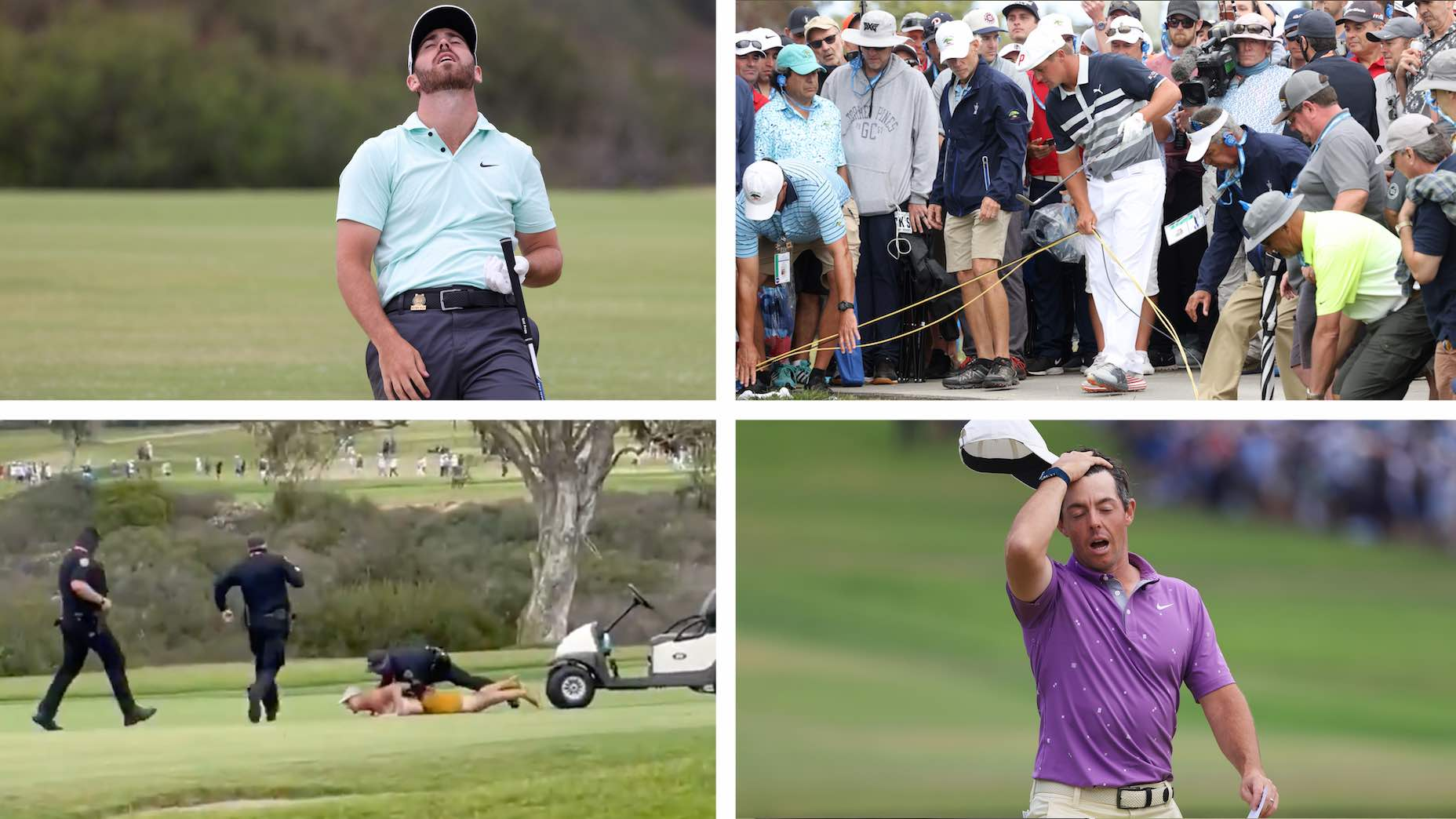 The U.S. Open turned to chaos on the back nine.