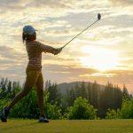 Golfer short backswing
