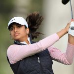 Megha Ganne shares the lead at 4-under at the U.S. Women's Open.
