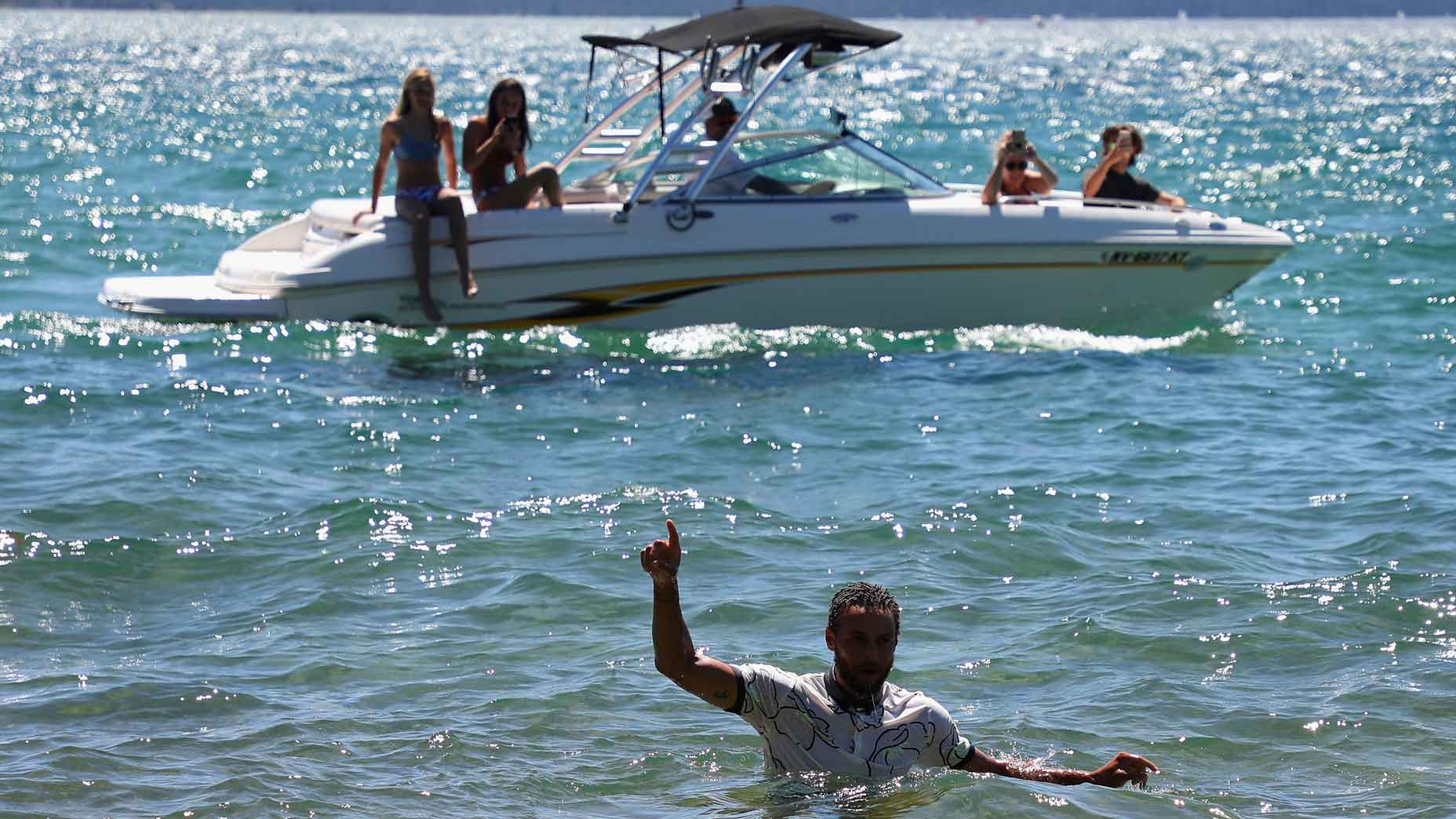 Steph Curry in Lake Tahoe