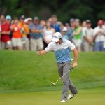 rory mcilroy pumps fist congressional