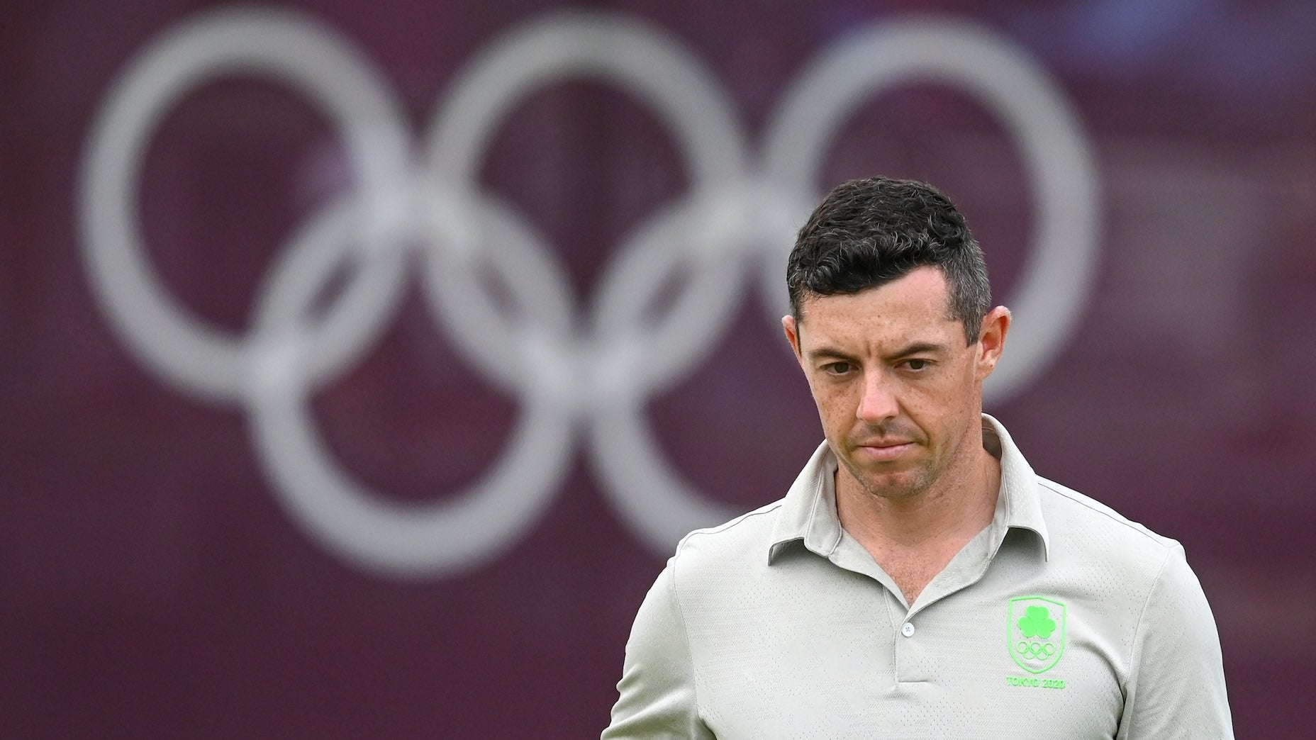 Tokyo , Japan - 29 July 2021; Rory McIlroy of Ireland on the 18th during round 1 of the men's individual stroke play at the Kasumigaseki Country Club during the 2020 Tokyo Summer Olympic Games in Kawagoe, Saitama, Japan. (Photo By Stephen McCarthy/Sportsfile via Getty Images)