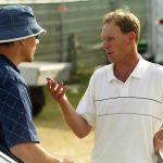 mark roe talks to man