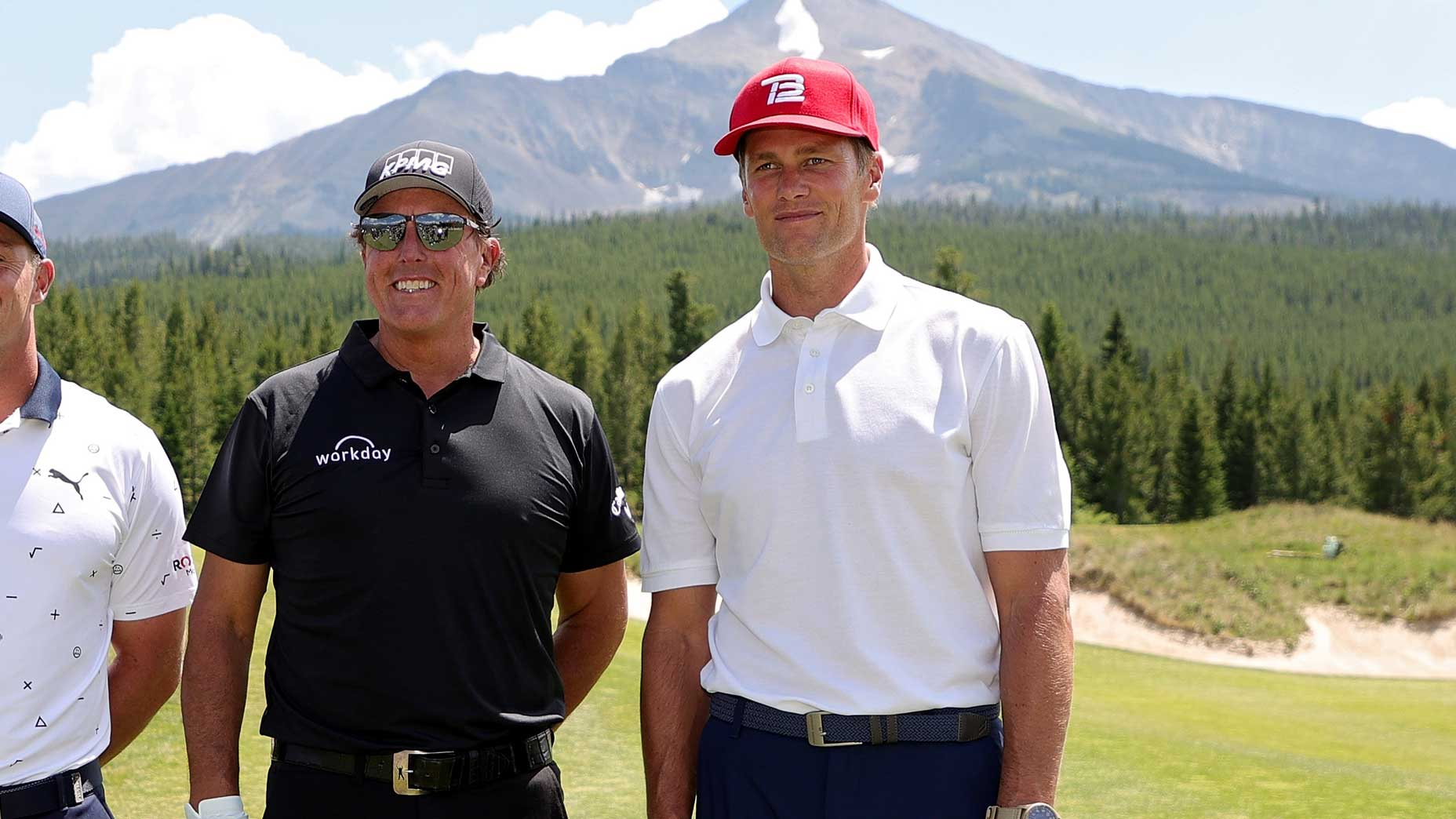 phil mickelson with tom brady