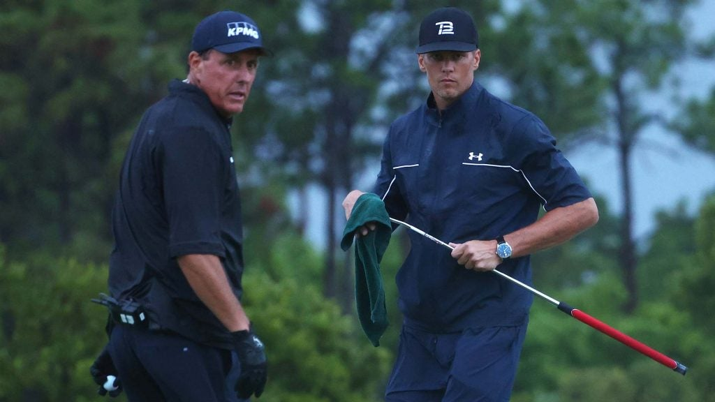 Phil Mickelson and Tom Brady