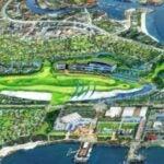 shark shaped golf course
