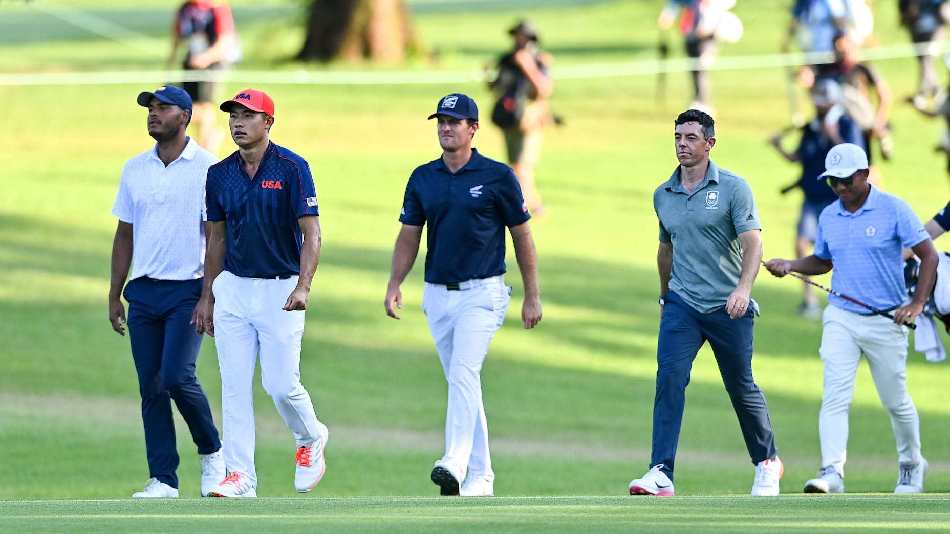 Seven players headed to extra holes to determine a bronze medalist at the Olympics.