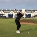 Anna Nordqvist hits her approach into the 18th green on Sunday at Carnoustie.