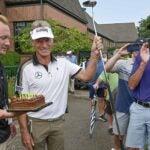 Bernhard Langer and birthday cake