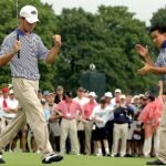 Brian Harman and Anthony Kim at the 2005 Walker Cup.