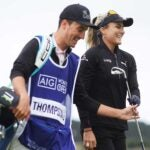 Lexi Thompson, with a local caddie at Carnoustie, is in good shape after two rounds in the final major of the year.