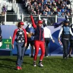Nelly Korda and Jessica Korda at Solheim Cup