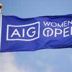 womens open flag blows