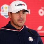 KOHLER, WISCONSIN - SEPTEMBER 23: Brooks Koepka of team United States speaks to the media during practice rounds prior to the 43rd Ryder Cup at Whistling Straits on September 23, 2021 in Kohler, Wisconsin. (Photo by Stacy Revere/Getty Images)