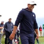 KOHLER, WISCONSIN - SEPTEMBER 23: Brooks Koepka of team United States walks to the fourth tee during practice rounds prior to the 43rd Ryder Cup at Whistling Straits on September 23, 2021 in Kohler, Wisconsin. (Photo by Stacy Revere/Getty Images)