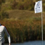 KOHLER, WISCONSIN - SEPTEMBER 25: Matthew Fitzpatrick of England and team Europe celebrates during Saturday Morning Foursome Matches of the 43rd Ryder Cup at Whistling Straits on September 25, 2021 in Kohler, Wisconsin. (Photo by Patrick Smith/Getty Images)