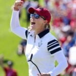 Jennifer Kupcho electrified the crowd with a chip-in on 17 to win the hole for Team USA.