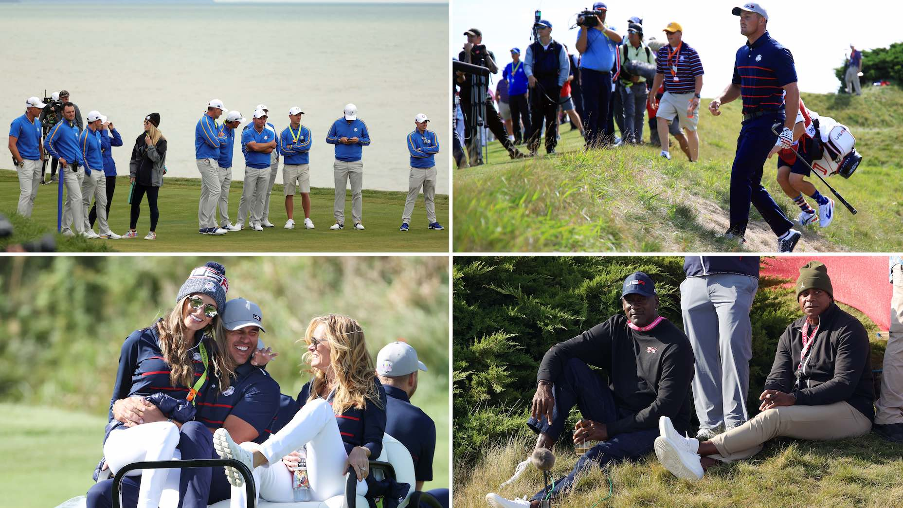 Who are the VIPs walking inside the ropes at the Ryder Cup?