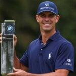 billy horschel holds trophy