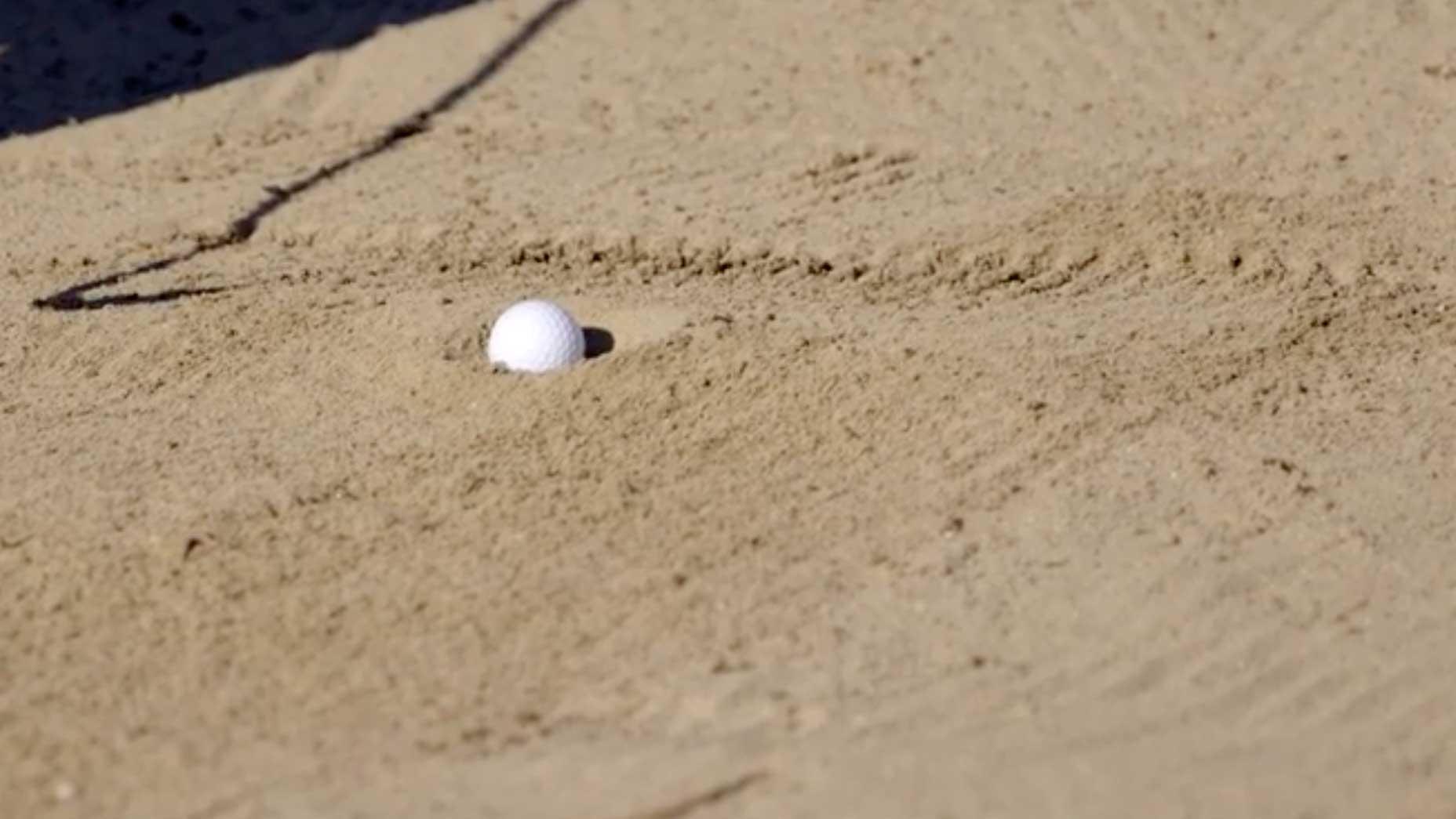 reid egg ball in bunker