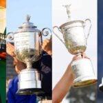 Golf's four major trophies