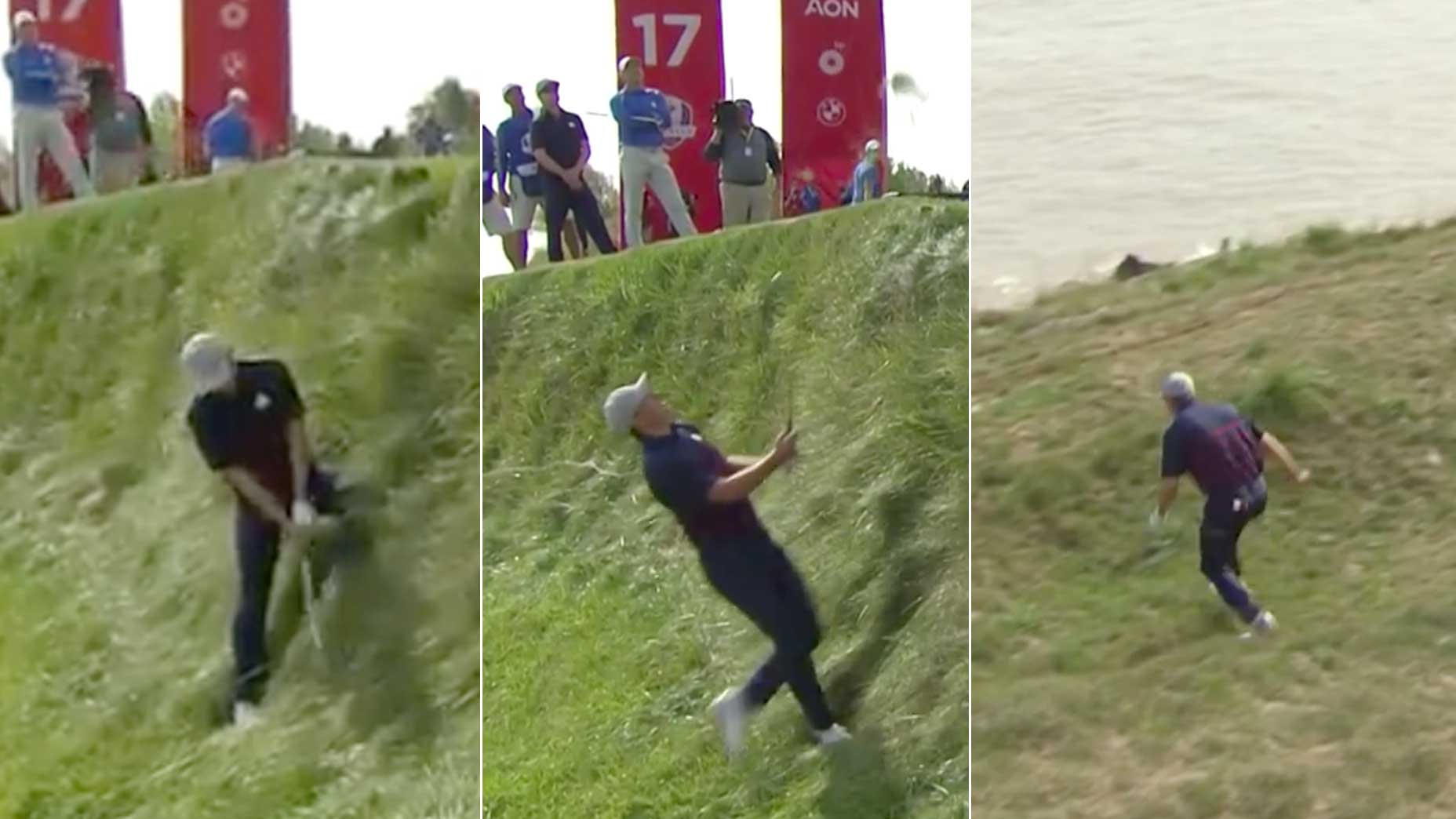Jordan Spieth hits a shot at the ryder cup