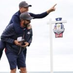 Justin Thomas and caddie Michael Greller at Ryder Cup