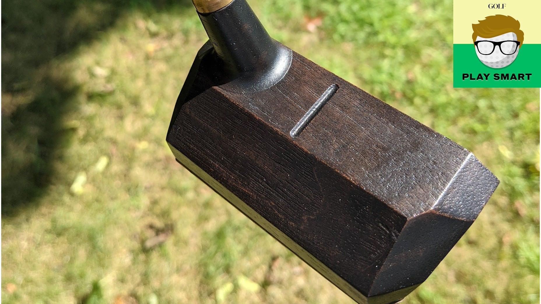A wooden putter.