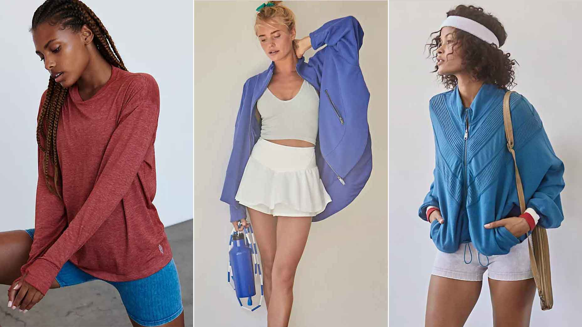 Three Free People activewear outfits