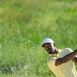 J.R. Smith hits a shot out of a bunker