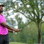 J.R. Smith playing golf