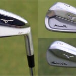 Photos of the Mizuno Pro 221, 223 and 225 irons.