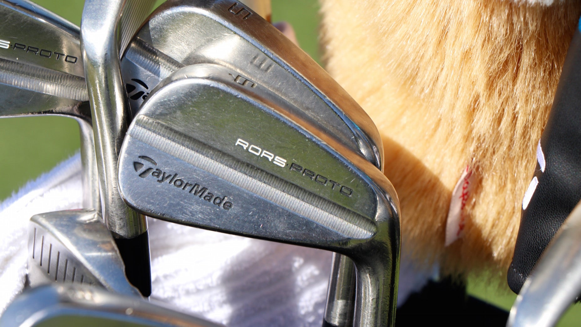 Rory McIlroy's custom TaylorMade irons at the 2021 CJ Cup.