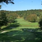 A scenic view from a green at Saint Andrew's Golf Club