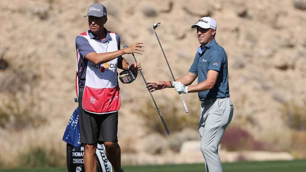 Justin Thomas and Bones Mackay are already gelling in their new marriage
