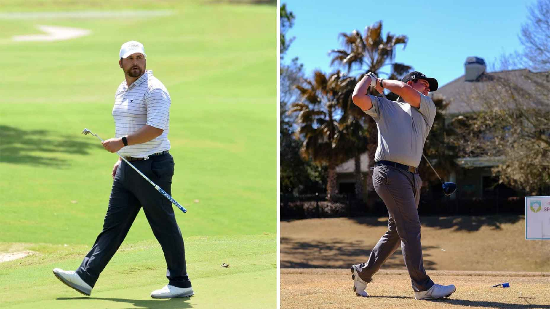 brett white swings golf club