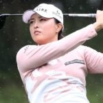 Jin Young Ko hits a shot on the 5th hole during the first round of the BMW Ladies Championship at LPGA International Busan on Thursday in Busan, South Korea.