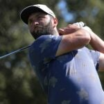 Jon Rahm of Spain on the second hole during the second round of The Estrella Damm N.A. Andalucia Masters at Real Club Valderrama