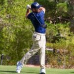 Louis Oosthuizen tees off during the 2021 Shriners Children's Open in Las Vegas
