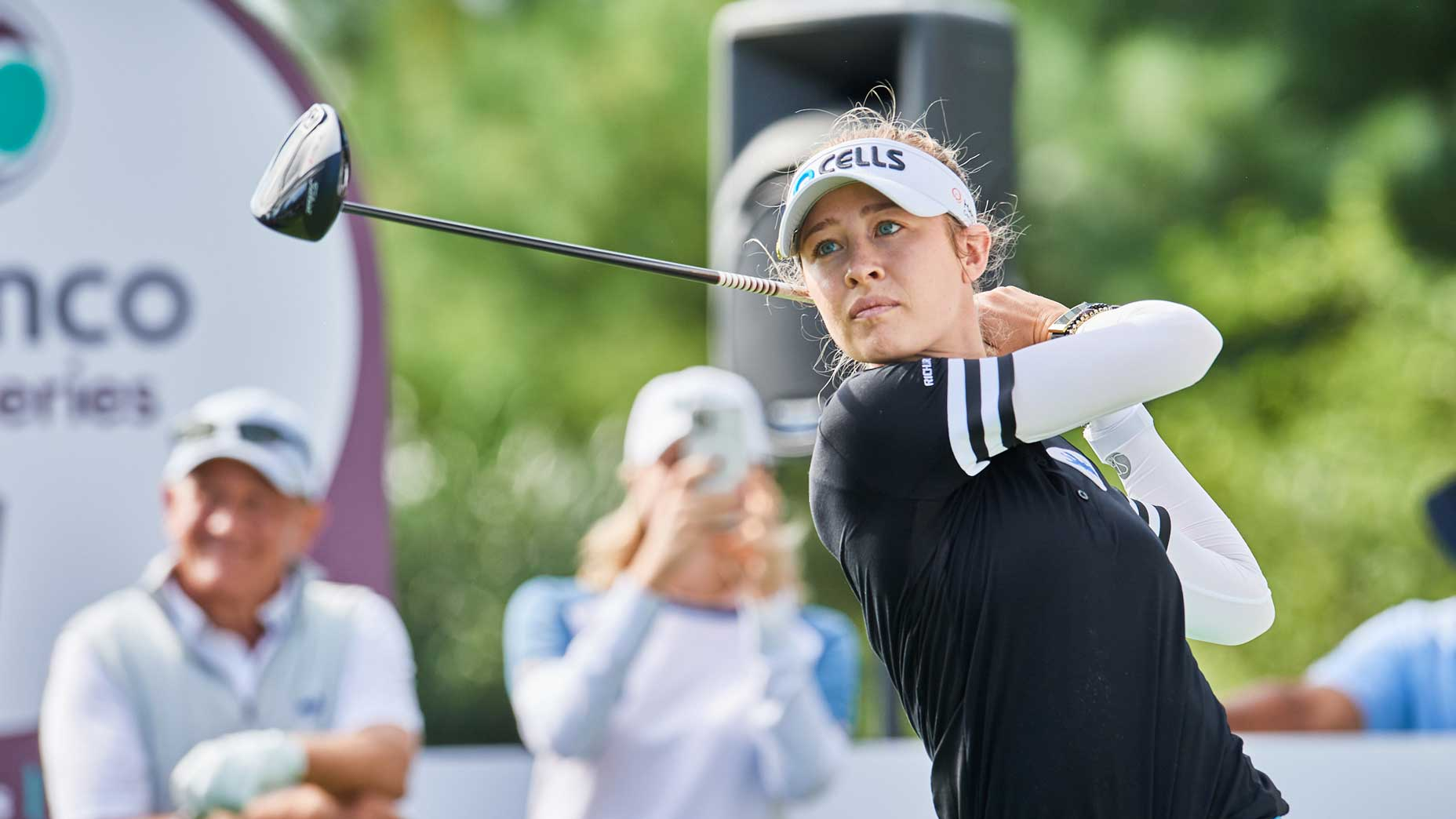 nelly korda in finish position