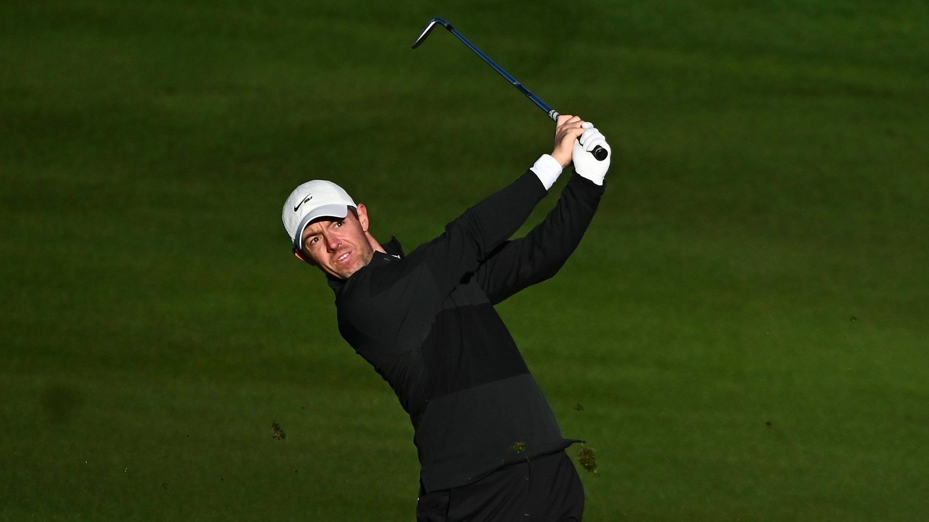 Rory McIlroy hits shot from fairway during practice round at 2021 CJ Cup