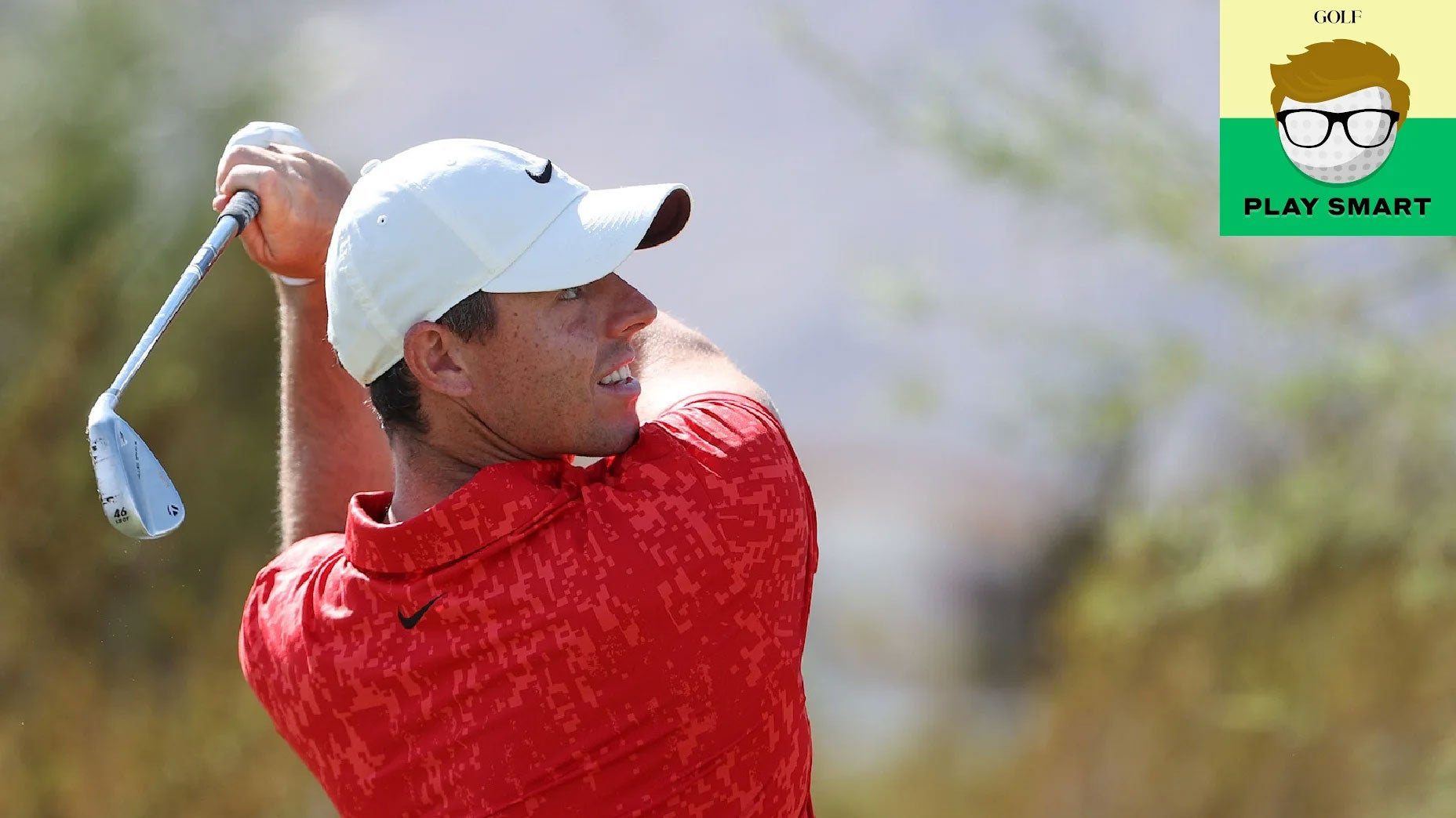 Rory McIlroy watches his ball after an iron shot during the 2021 CJ Cup