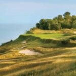 The 17th hole at whistling straits.
