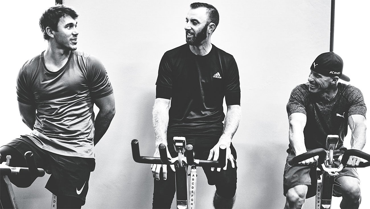 To win, Dustin Johnson and Brooks Koepka hit the gym hard