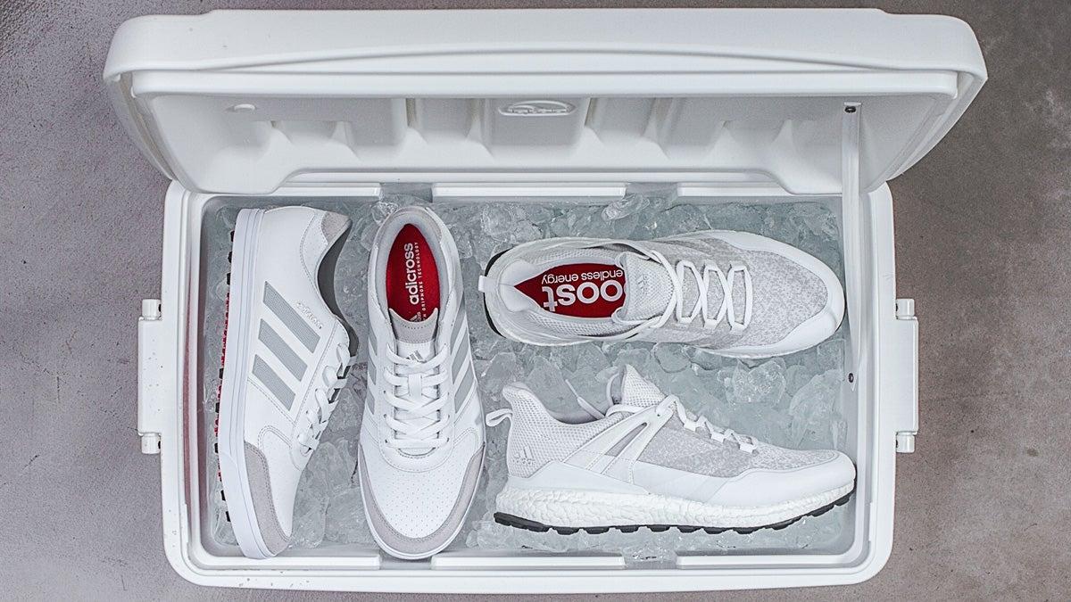 adidas avvia crossknit gripmore bianco e scarpe da golf per l'estate.