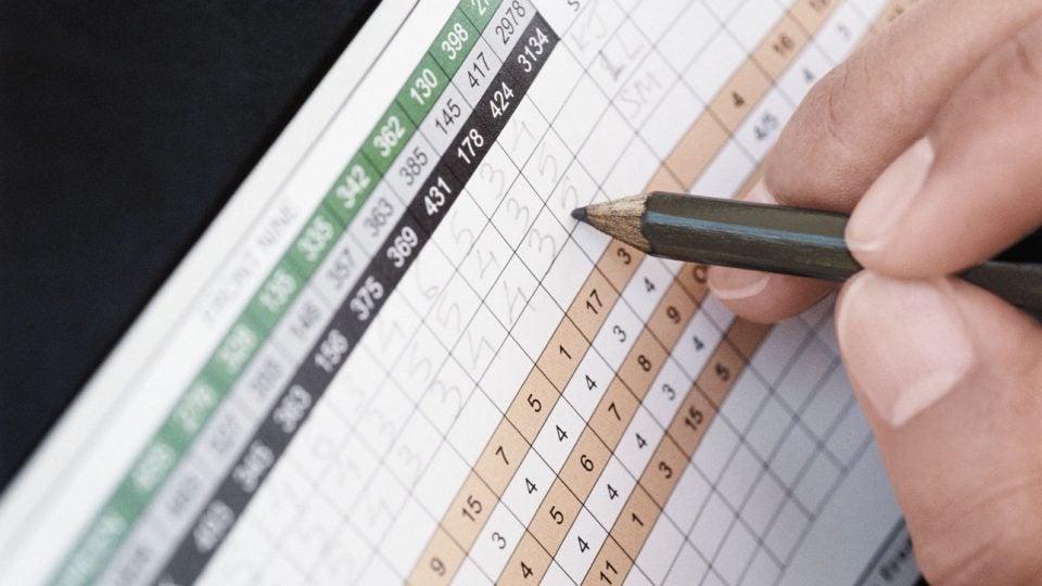 Golf scorecard